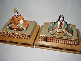 Japanese Hina Dolls, Mataro Japanese Kimekomi Dolls