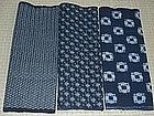 Old Japanese Textile, 3 Kasuri Patchwork