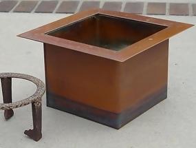 Copper Rodan Sunken Hearth, Chanoyu Japanese Tea Room