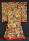 Japanese Wedding Gown, Uchikake, Amazing Embroidery