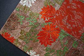 Kesa, Japanese Buddhist Priest's Robe, Chrysanthemum