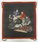 Japanese fukusa, Nobleman�s Four Accomplishments