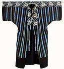 Japanese Yogi, Kimono Shape Cotton Bed Cover, Stripes