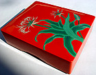 Colorful Japanese Lacquer Box from Southern Island