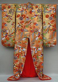 Japanese Wedding Gown, Tsujigahana Style