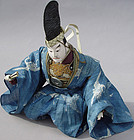 Antique Japanese Kabuki Doll in Noh Costume