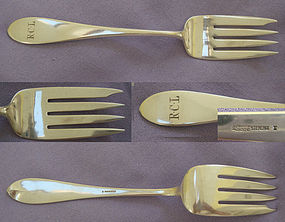 ARTHUR STONE STERLING SERVING FORK