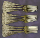 12 BRIGHT-CUT FORKS / GORHAM 'CHRYSANTHEMUM'