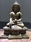 12th - 13th Century Nepalese Bronze Buddha