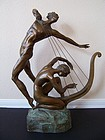 "Misha Frid, ""The Harp Player"" in Bronze"