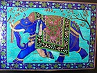 A Large Enameled Silver Box From Rajasthan India