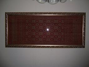 A Large Silver Thread Kain Selendag Songket, circa 1900
