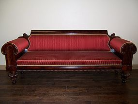 An Early American Carved Mahogany Sofa, circa 1820