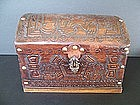 A Peruvian Leather-Wrapped Wooden Chest