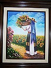 A Lovely Mexican Original Oil Painting