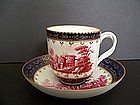 A Very Fine 18th Century Doccia Teacup and Saucer