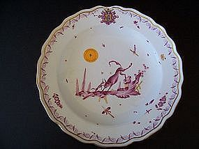 An Important 18th Century Meissen Plate, Ex-Sotheby's