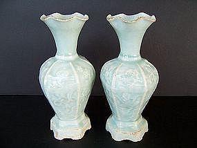A Rare Pair of Song Dynasty Qingbai Vases 960-1279 AD