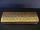 A Very Striking Burmese Shwei-Zawa Writing Box