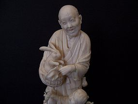A Fine Japanese Ivory Carving, Meiji Period (1868-1912)