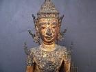 A Fine Thai Rattanakosin Bronze Buddha, 19th Century