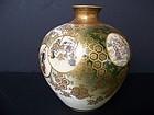 A Superb Satsuma Vase, Meiji Period (1868-1912)