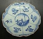 Lotus form plate, Kangxi ( 1662 - 1722 )