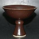 Monochrome stem cup, Wanli (1573-1619)