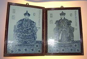 Qianlong  Emporar and Empress portraits, Early 1900