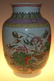 Large vase, Daoguang ( 1821 - 1850 )