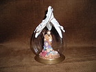 GLASS BALL NATIVITY ORNAMENT