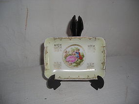 BAVARIA GERMANY SMALL PORCELAIN JEWELRY TRAY