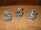 ENESCO SET OF 3 PEWTER MINIATURE GARDEN BOXES
