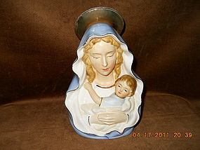BEAUTIFUL VIRGIN MARY WITH CHILD PLANTER