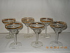 SET OF 6 LIBBEY CHAMPAGNE GLASSES