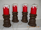 SET OF 4 LARGE OUTDOOR CANDLES