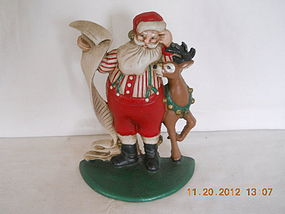CAST IRON SANTA DOOR STOP