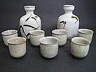 Nakazato Taroemon XIII Karatsu Tokkuri and Guinomi set