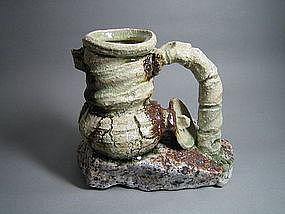 Rock & Clay Objet by Suzuki Goro (k)