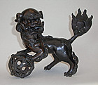 Bronze lion (Shishi), 19th cent.