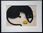 Ido MASAO, black cat & lemon