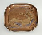 Fine late Edo lacquer tray