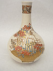 Fine onion-shaped Satsuma vase w. flower basket