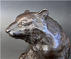 Fine bronze model of a Bear. Signed Tametsu