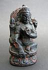 Small ZITAN wood image, Bodhisattva of wisdom Manjusri