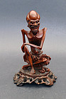 A boxwood image of Sakyamuni as ascetic (huangyangmu)