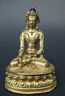 Bronze image of the Dhyani-Buddha Ratnasambhava