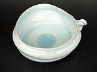 Kato Tsubusa: large water bowl (mizusaki) pale celadon