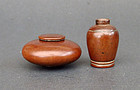 Two scholar's objects made of boxwood-huangyangmu