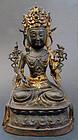 Bronze image bodhisattva Avalokitesvara (Guanyin
